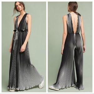 🆕NWT Anthropologie black & white pleated jumpsuit